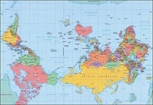 Карта вверх ногами
